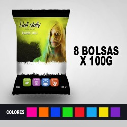 Powder Holi 8 Bags x 100 gr