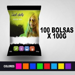 Powder Holi 100 bags X 100 gr